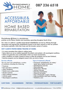 Our Latest Physiotherapy at Home Flyer
