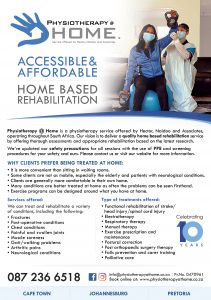 Physiotherapy @ Home - Our latest flyer 2021